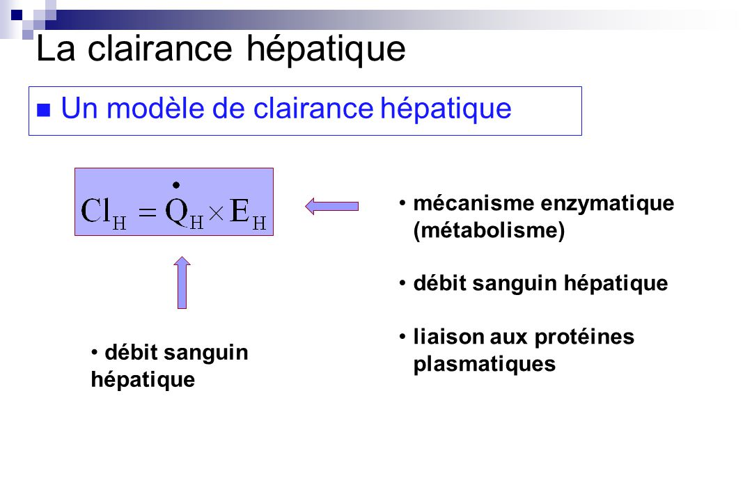 La clairance hépatique