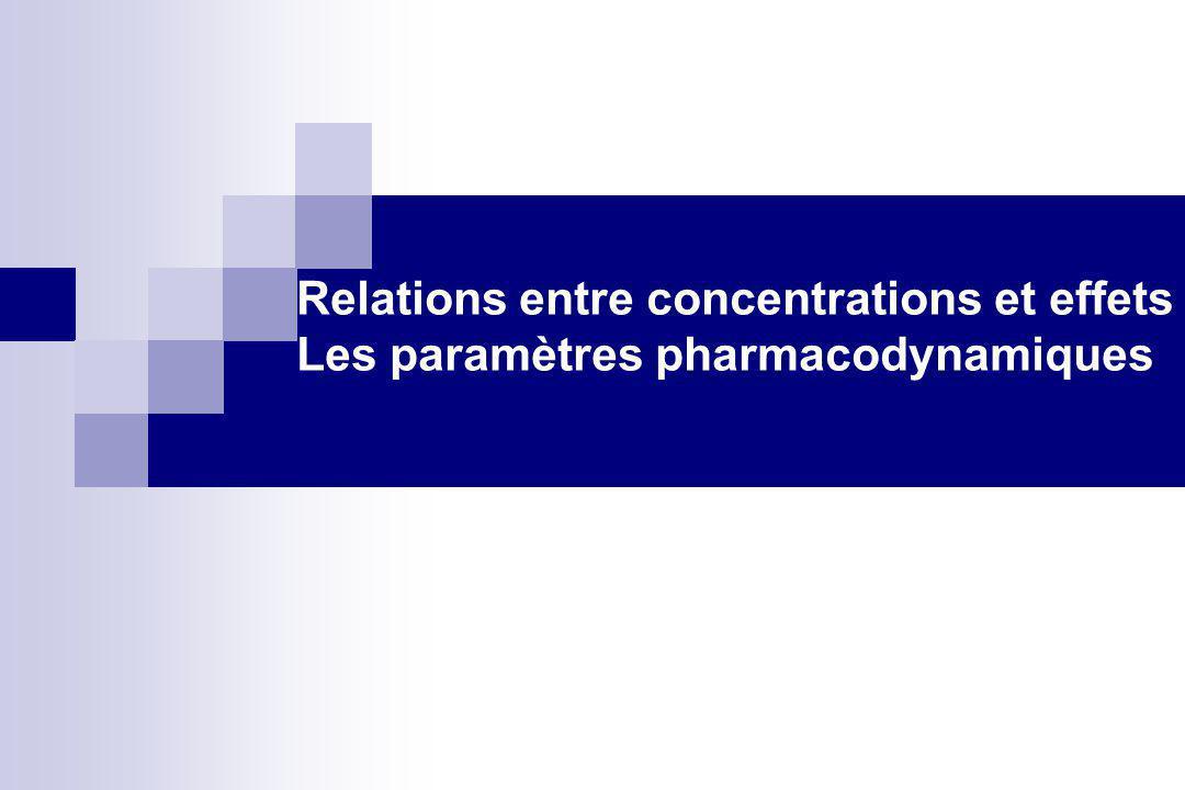 Relations entre concentrations et effets