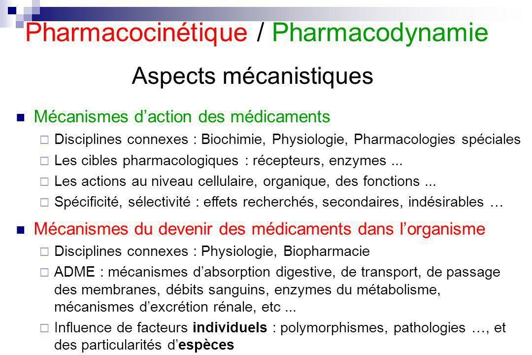 Aspects mécanistiques