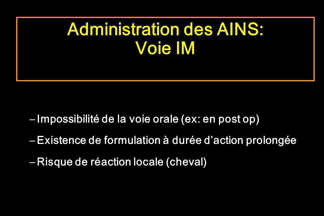 Administration des AINS: Voie IM