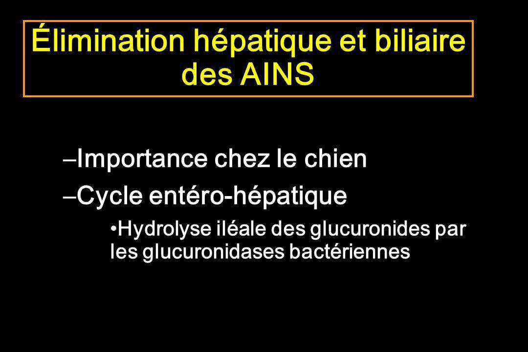 Élimination hépatique et biliaire des AINS