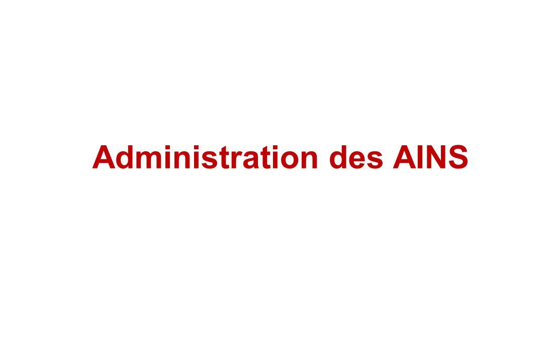 Administration des AINS