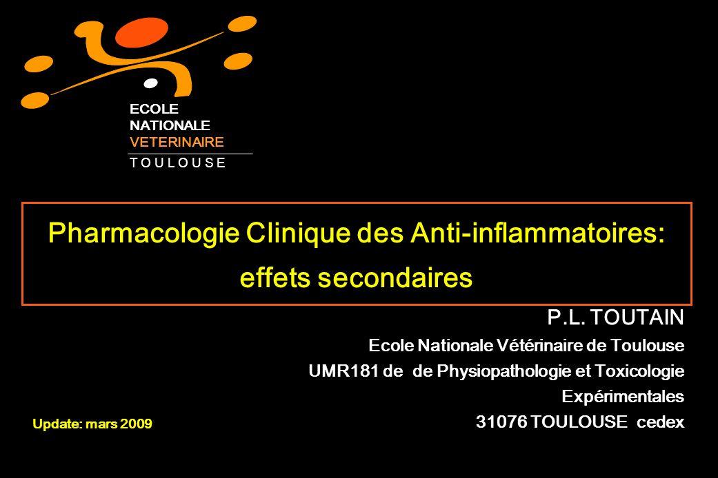 Pharmacologie Clinique des Anti-inflammatoires: effets secondaires