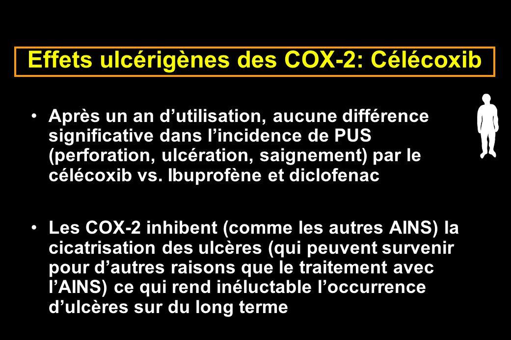 Effets ulcérigènes des COX-2: Célécoxib