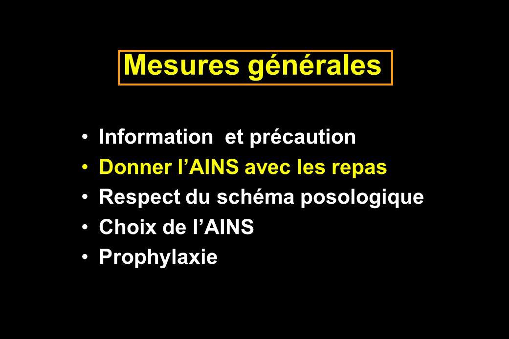 Mesures générales Information et précaution