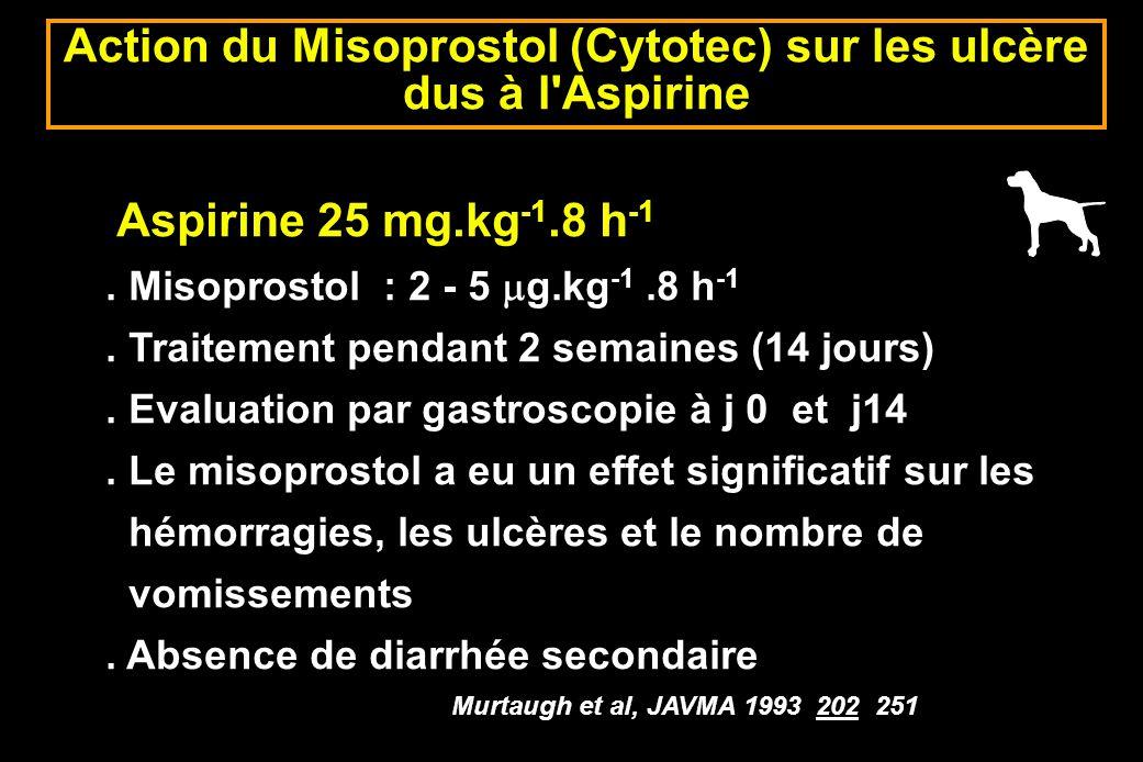 Action du Misoprostol (Cytotec) sur les ulcère dus à l Aspirine