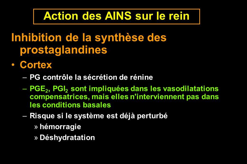 Action des AINS sur le rein