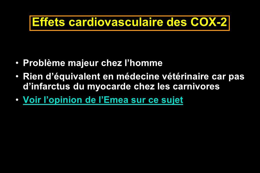 Effets cardiovasculaire des COX-2
