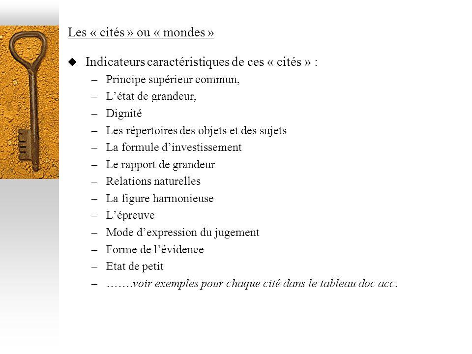 Les « cités » ou « mondes »