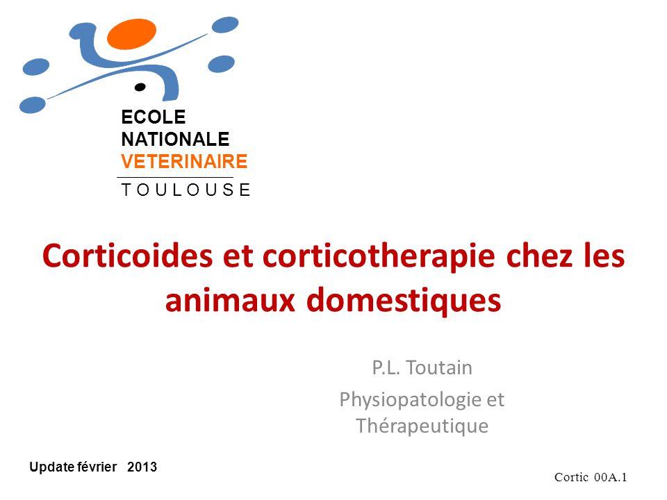 Corticoides et corticotherapie chez les animaux domestiques