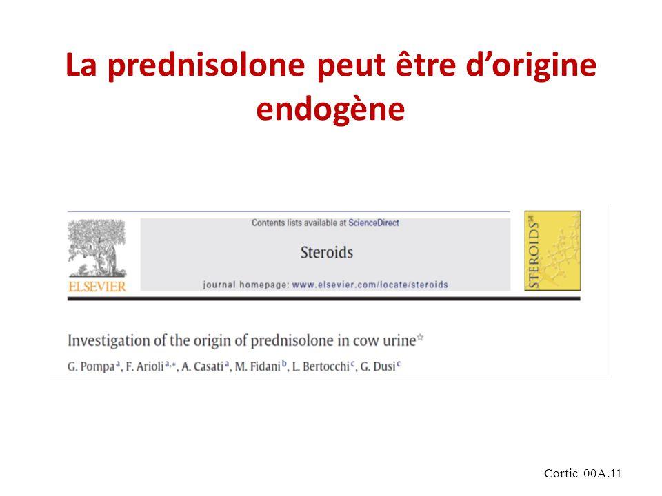 La prednisolone peut être d'origine endogène