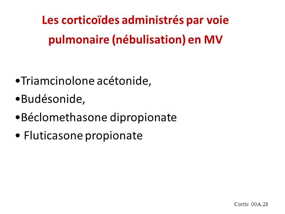 Les corticoïdes administrés par voie pulmonaire (nébulisation) en MV