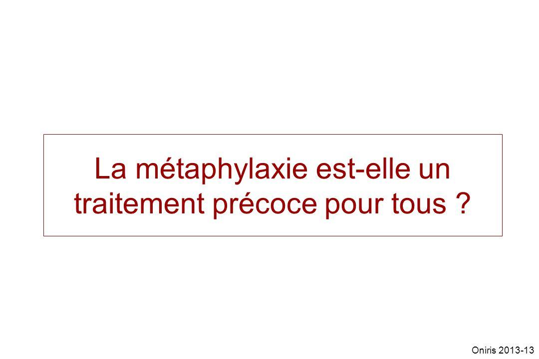 La métaphylaxie est-elle un traitement précoce pour tous