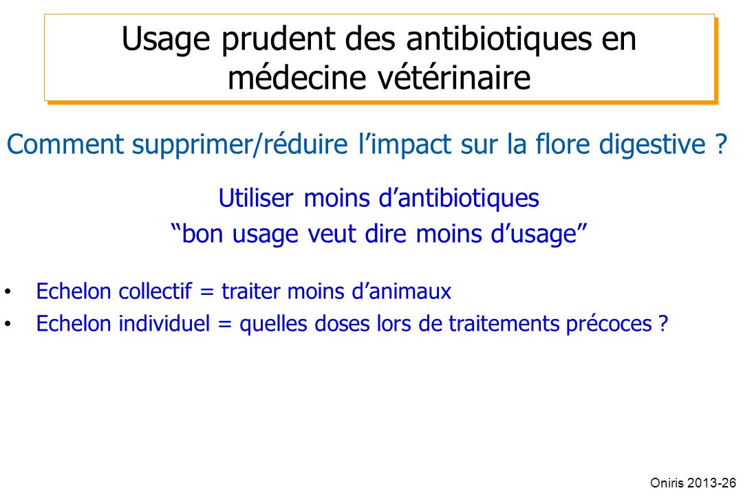 Usage prudent des antibiotiques en médecine vétérinaire