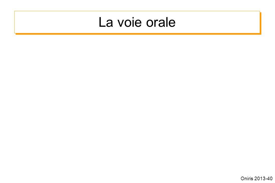 La voie orale Oniris 2013-40