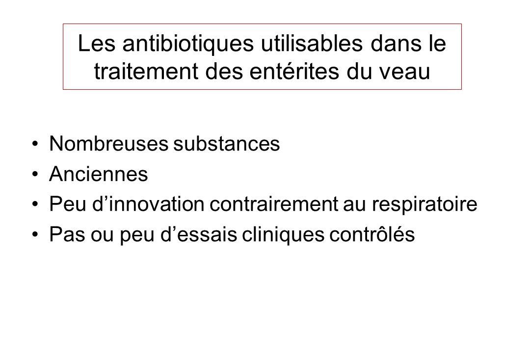 Les antibiotiques utilisables dans le traitement des entérites du veau