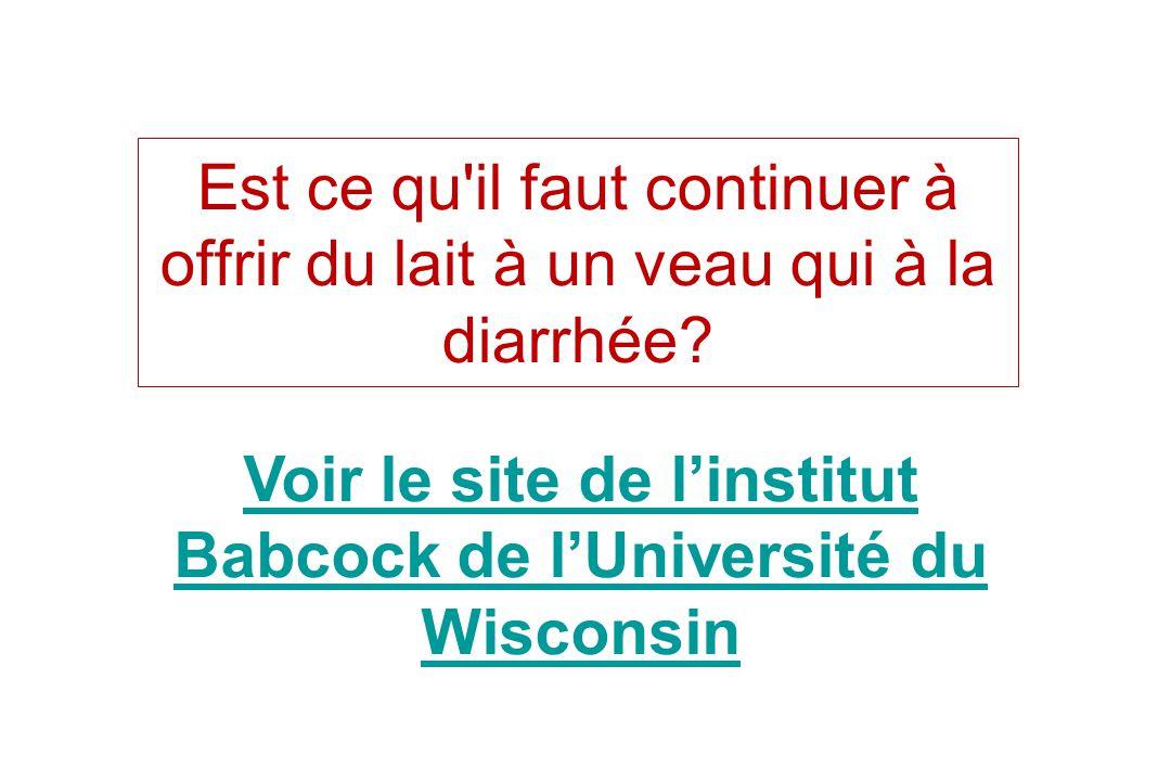 Voir le site de l'institut Babcock de l'Université du Wisconsin