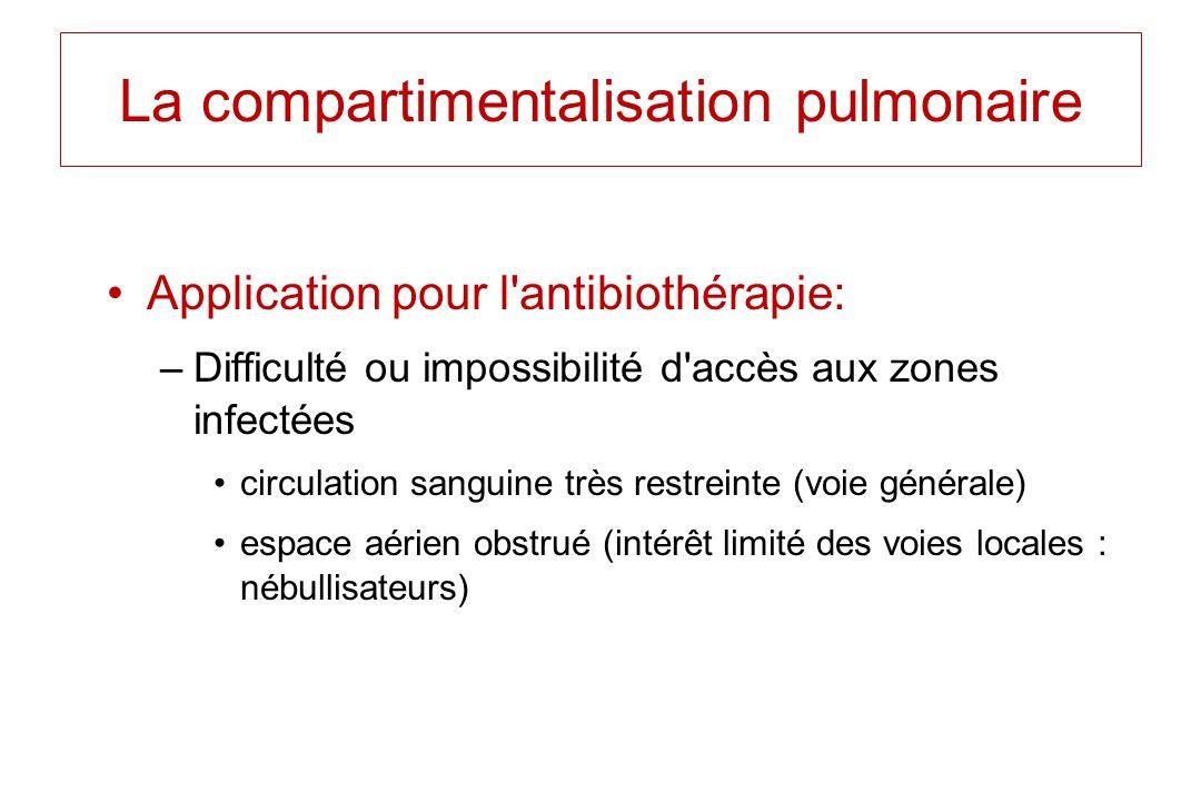 La compartimentalisation pulmonaire