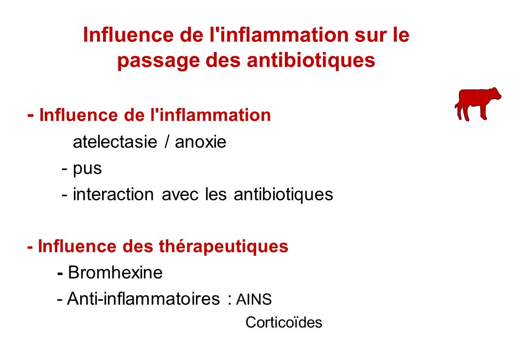 Influence de l inflammation sur le passage des antibiotiques
