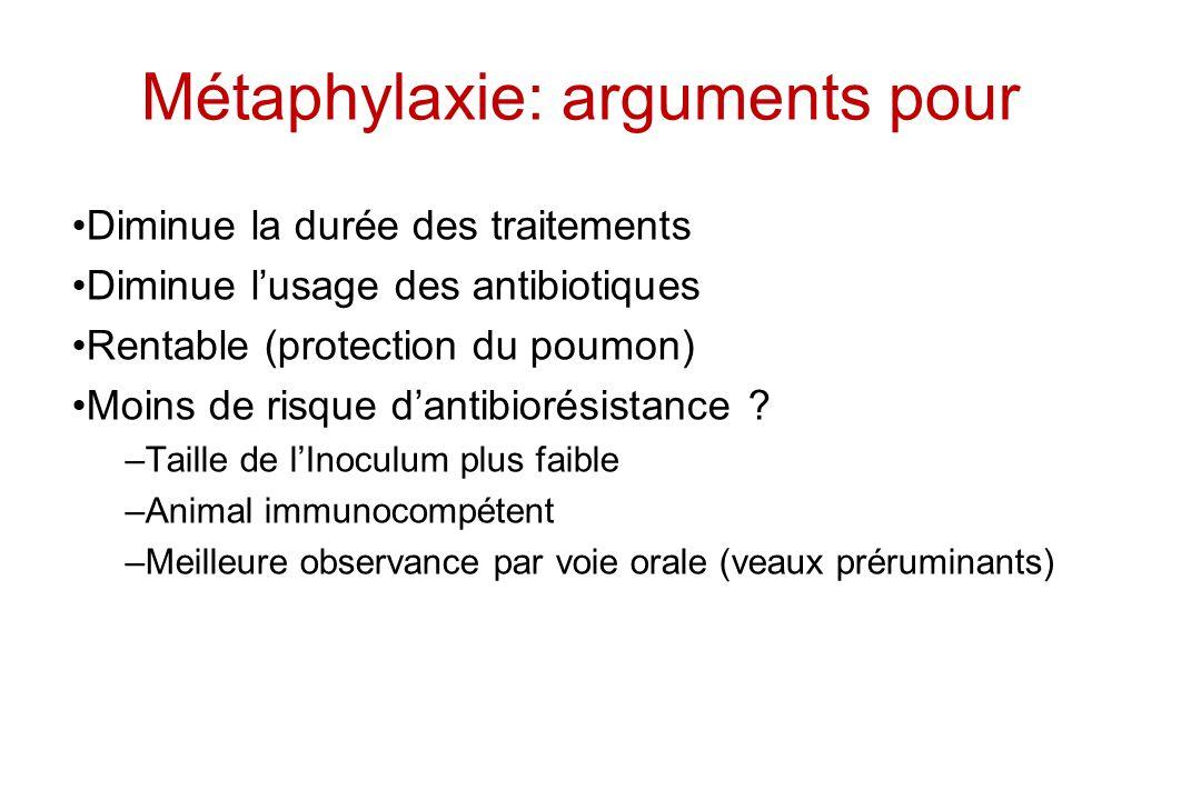 Métaphylaxie: arguments pour