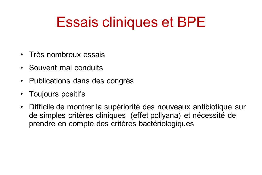 Essais cliniques et BPE
