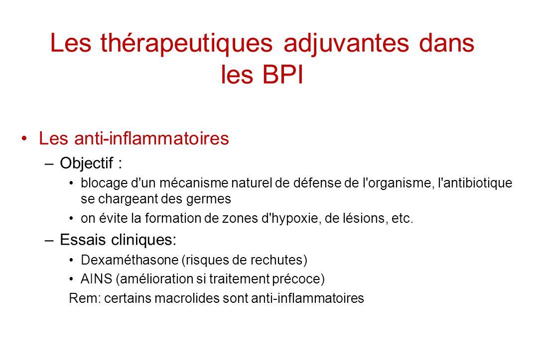 Les thérapeutiques adjuvantes dans les BPI