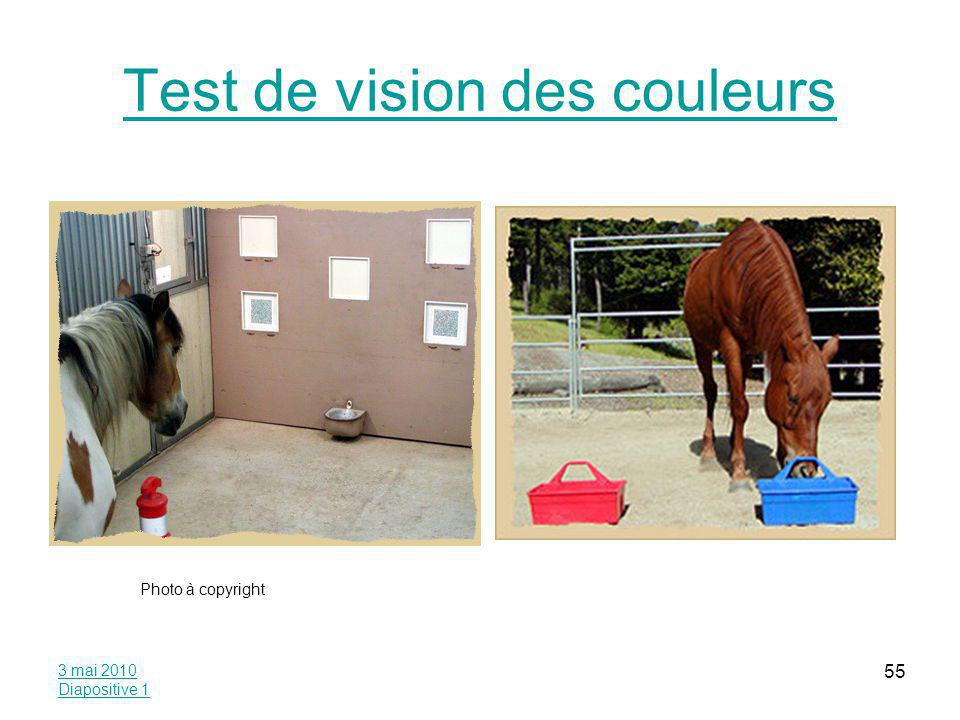 Test de vision des couleurs