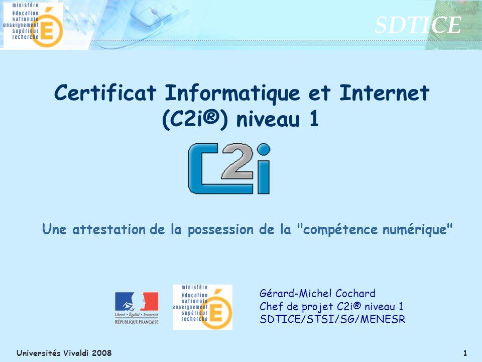 Certificat Informatique et Internet (C2i®) niveau 1