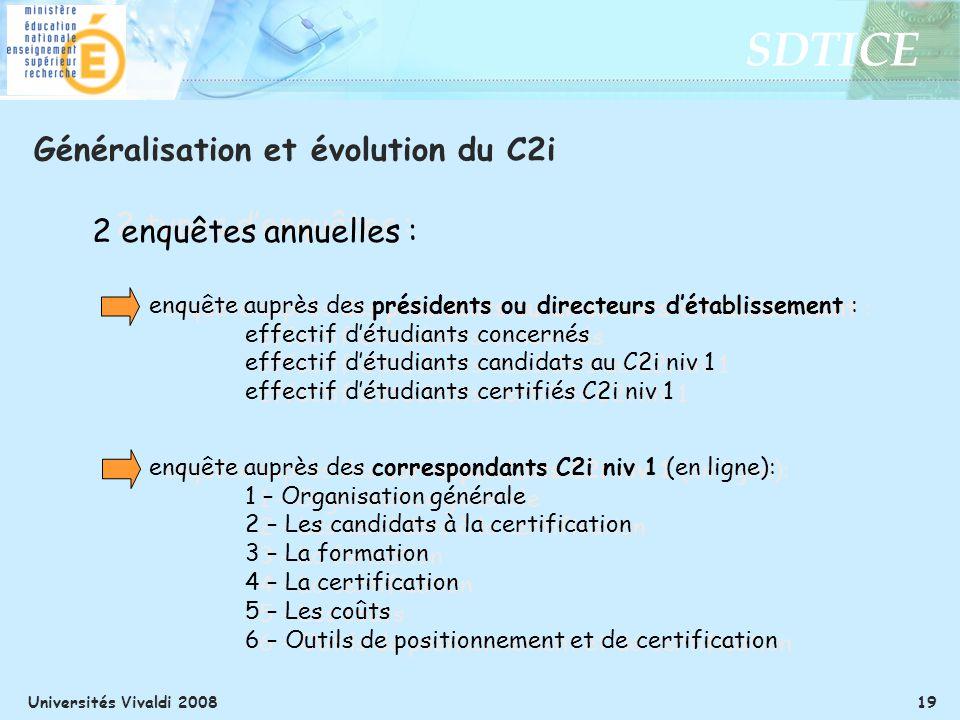 Généralisation et évolution du C2i