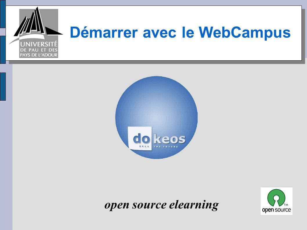 Démarrer avec le WebCampus
