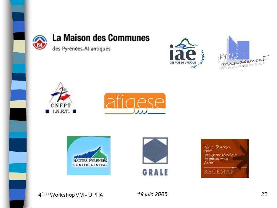 4ème Workshop VM - UPPA 19 juin 2008