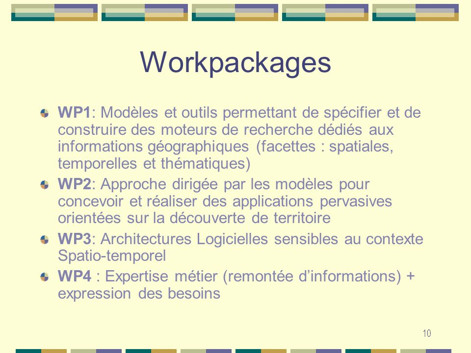 Workpackages