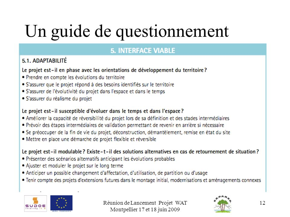 Un guide de questionnement