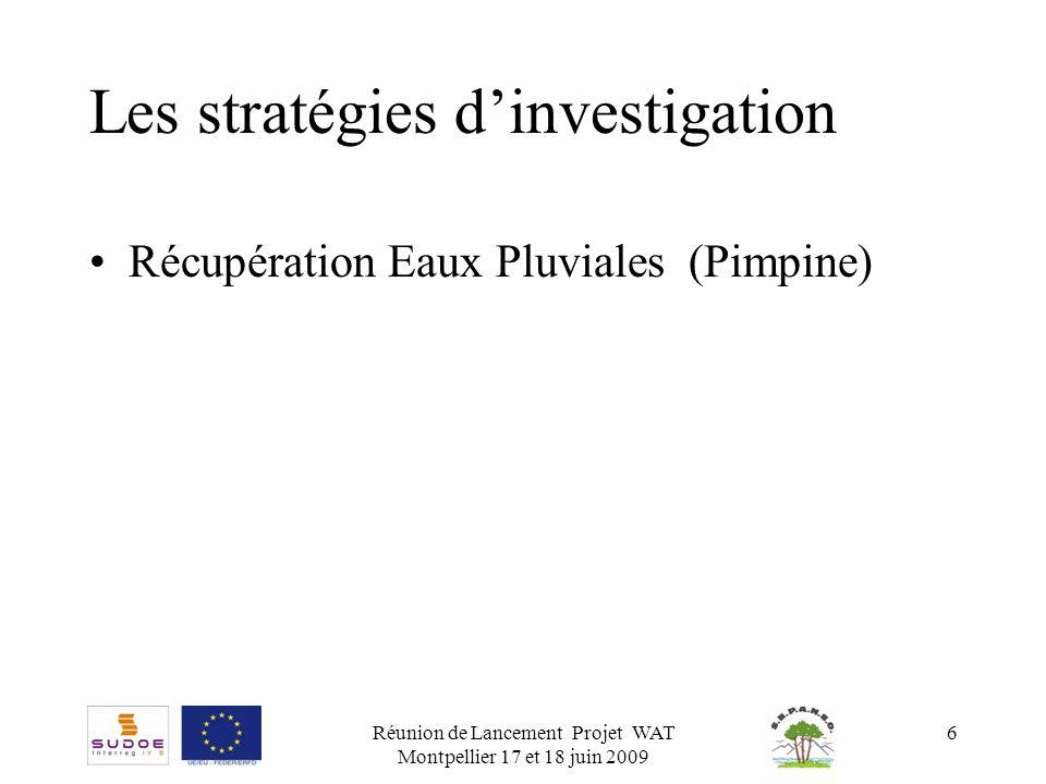 Les stratégies d'investigation