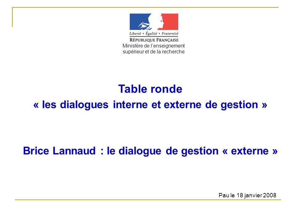 Table ronde « les dialogues interne et externe de gestion »