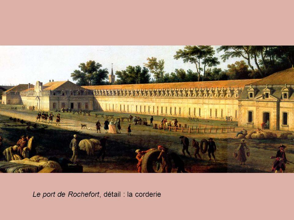 Le port de Rochefort, détail : la corderie