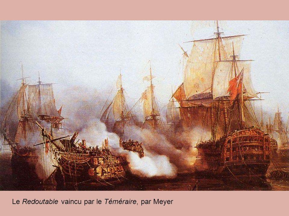 Le Redoutable vaincu par le Téméraire, par Meyer