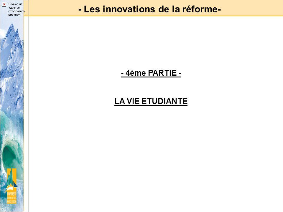 - Les innovations de la réforme-