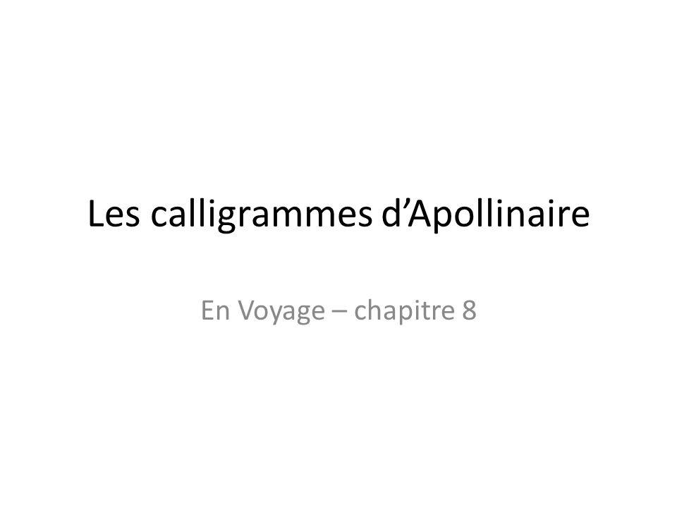 Les calligrammes d'Apollinaire