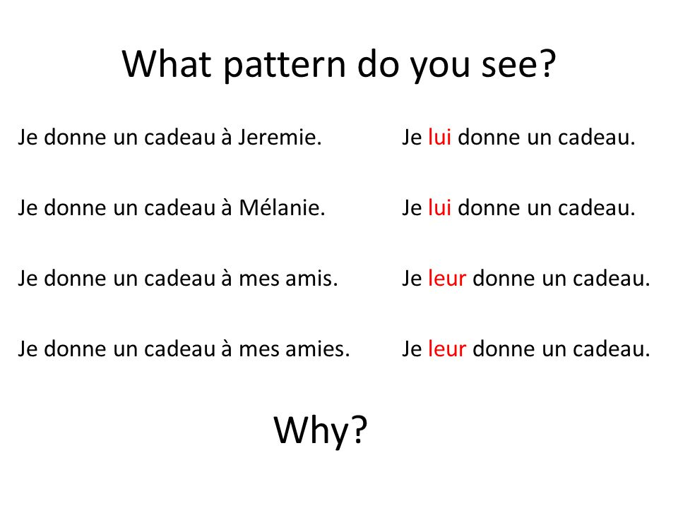 What pattern do you see Why