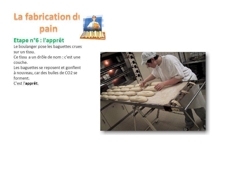 La fabrication du pain