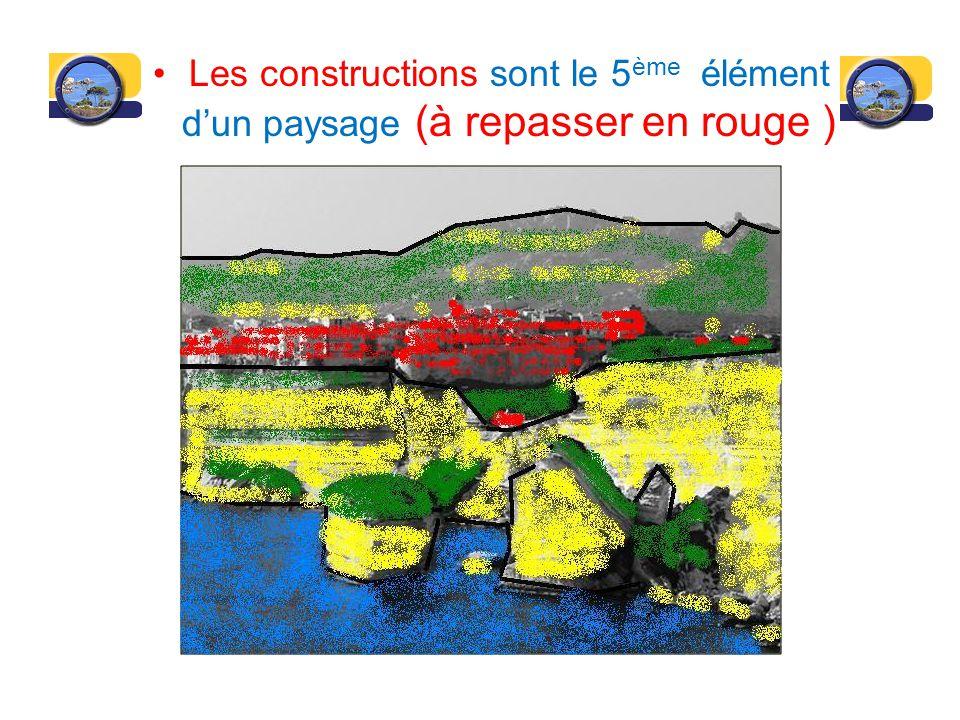 Les constructions sont le 5ème élément d'un paysage (à repasser en rouge )