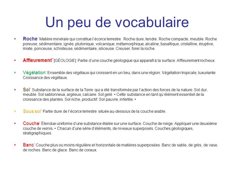 Un peu de vocabulaire