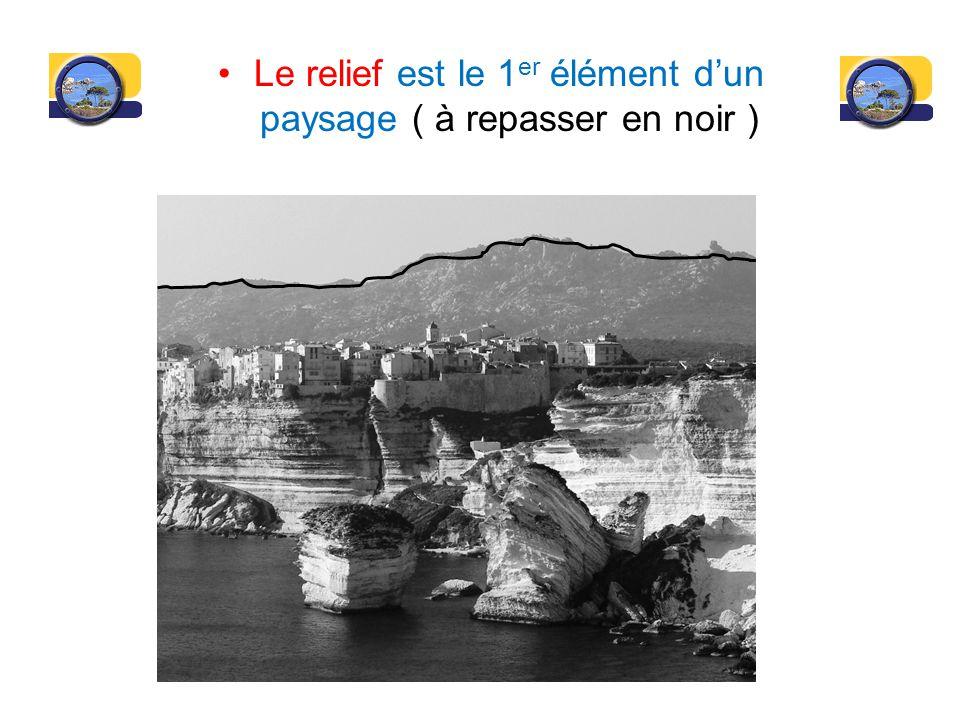 Le relief est le 1er élément d'un paysage ( à repasser en noir )