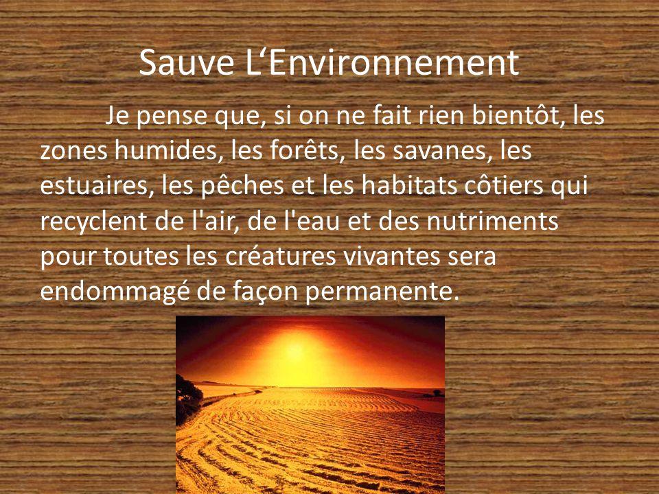 Sauve L'Environnement