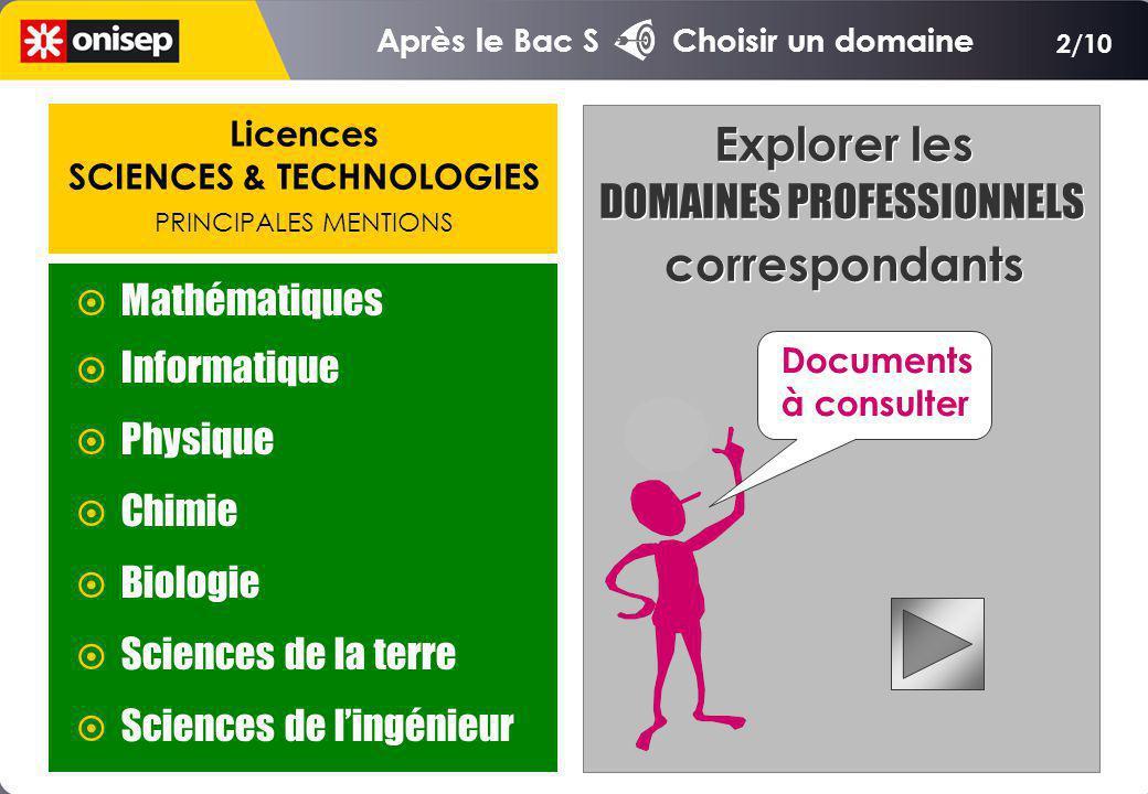 SCIENCES & TECHNOLOGIES