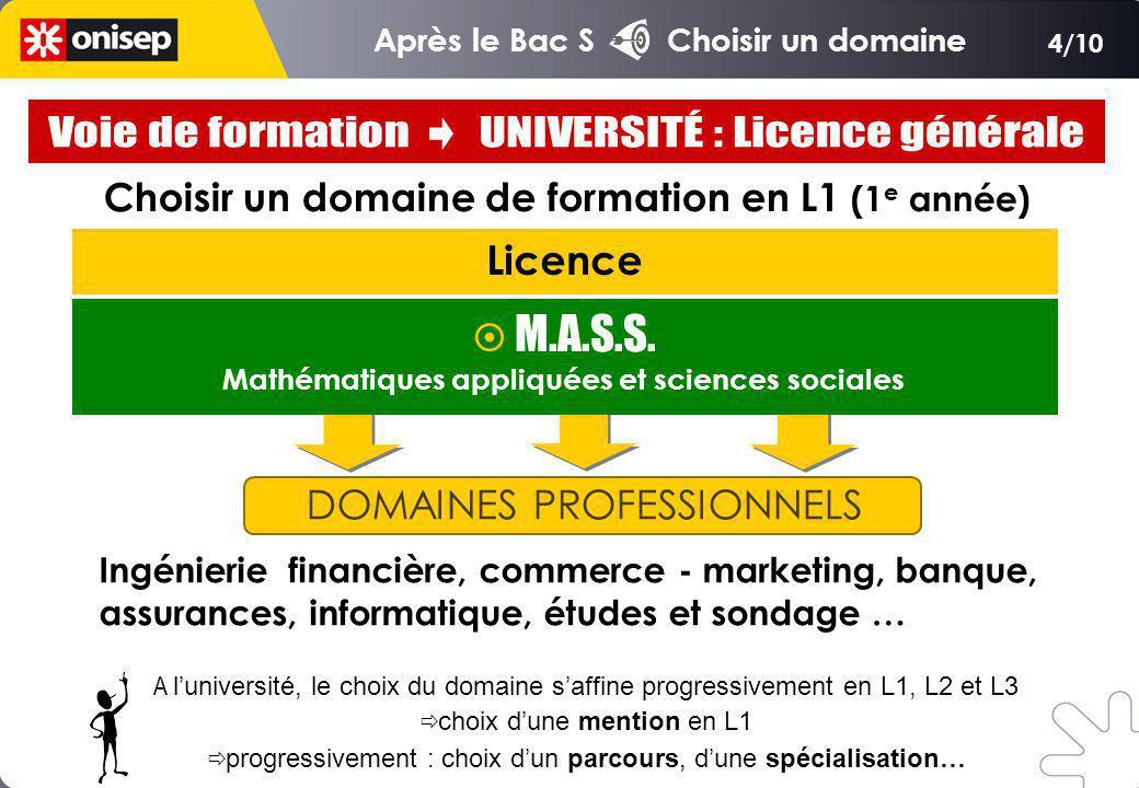 Voie de formation UNIVERSITÉ : Licence générale