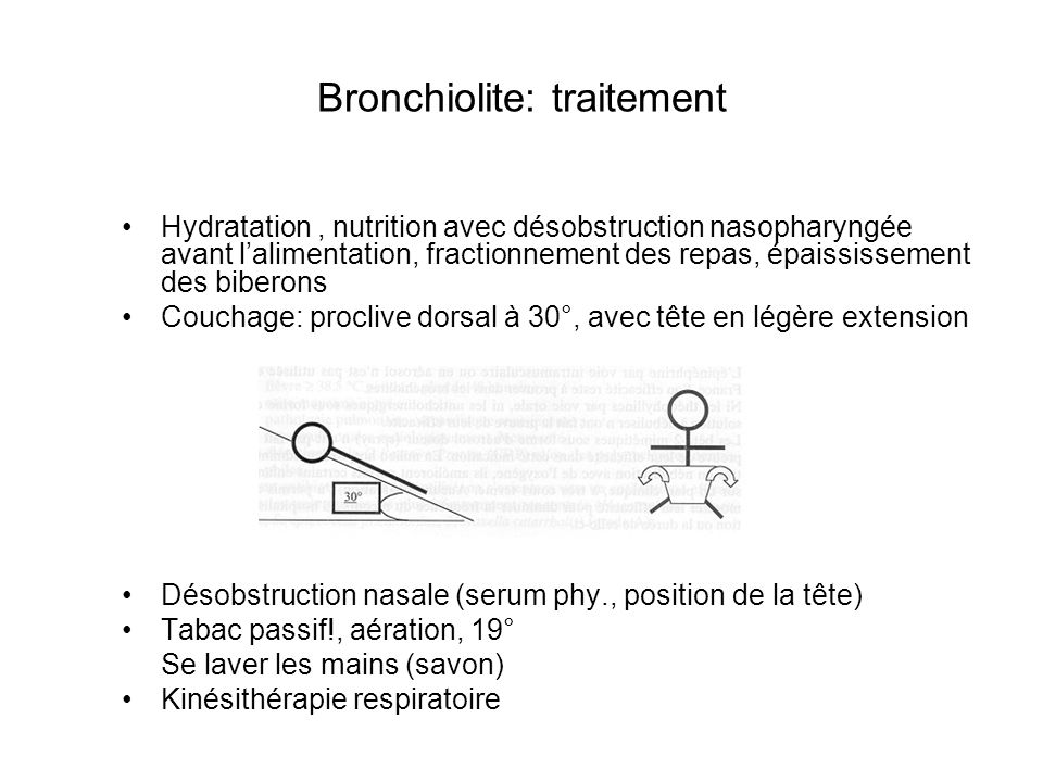 Bronchiolite: traitement