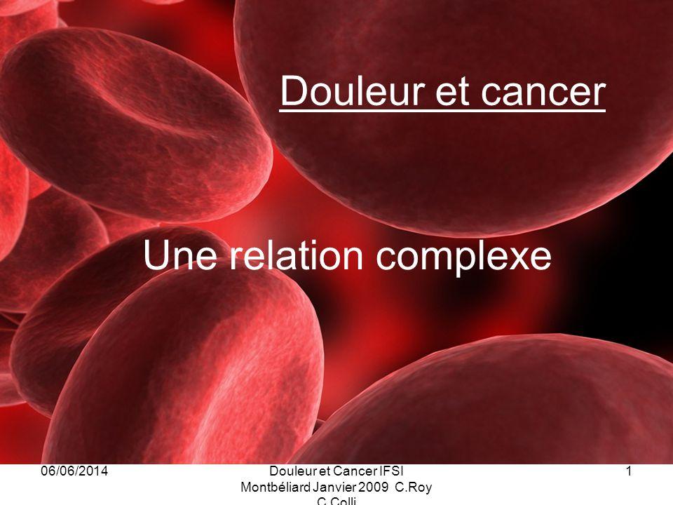 Douleur et Cancer IFSI Montbéliard Janvier 2009 C.Roy C.Colli
