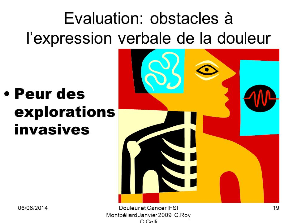Evaluation: obstacles à l'expression verbale de la douleur